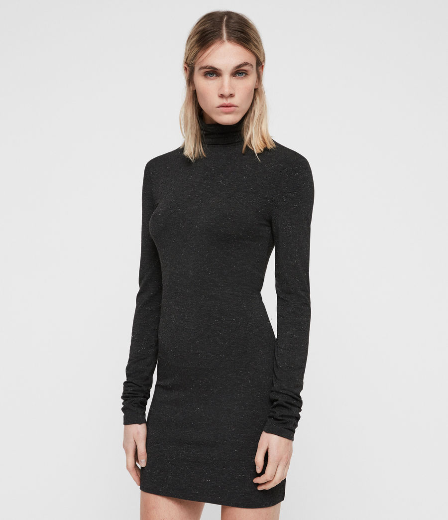Womens Esme Shimmer Dress (charcoal_marl) - Image 5