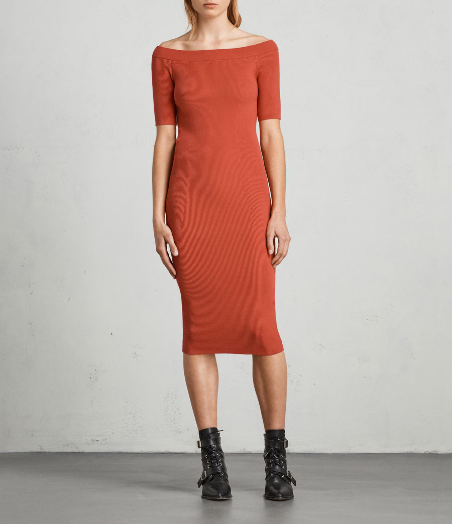 Womens Lavine Bandeau Dress (poppy_red) - Image 1