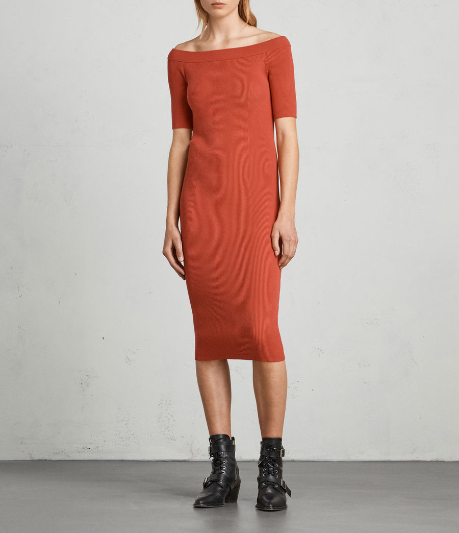 Womens Lavine Bandeau Dress (poppy_red) - Image 3