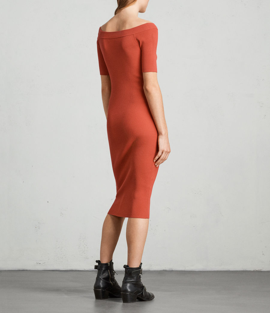 Womens Lavine Bandeau Dress (poppy_red) - Image 4