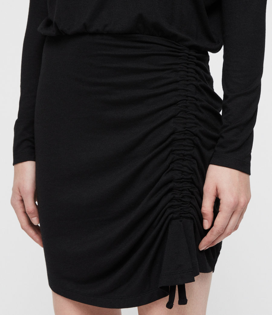Damen Tavi Ruched Kleid (black) - Image 2