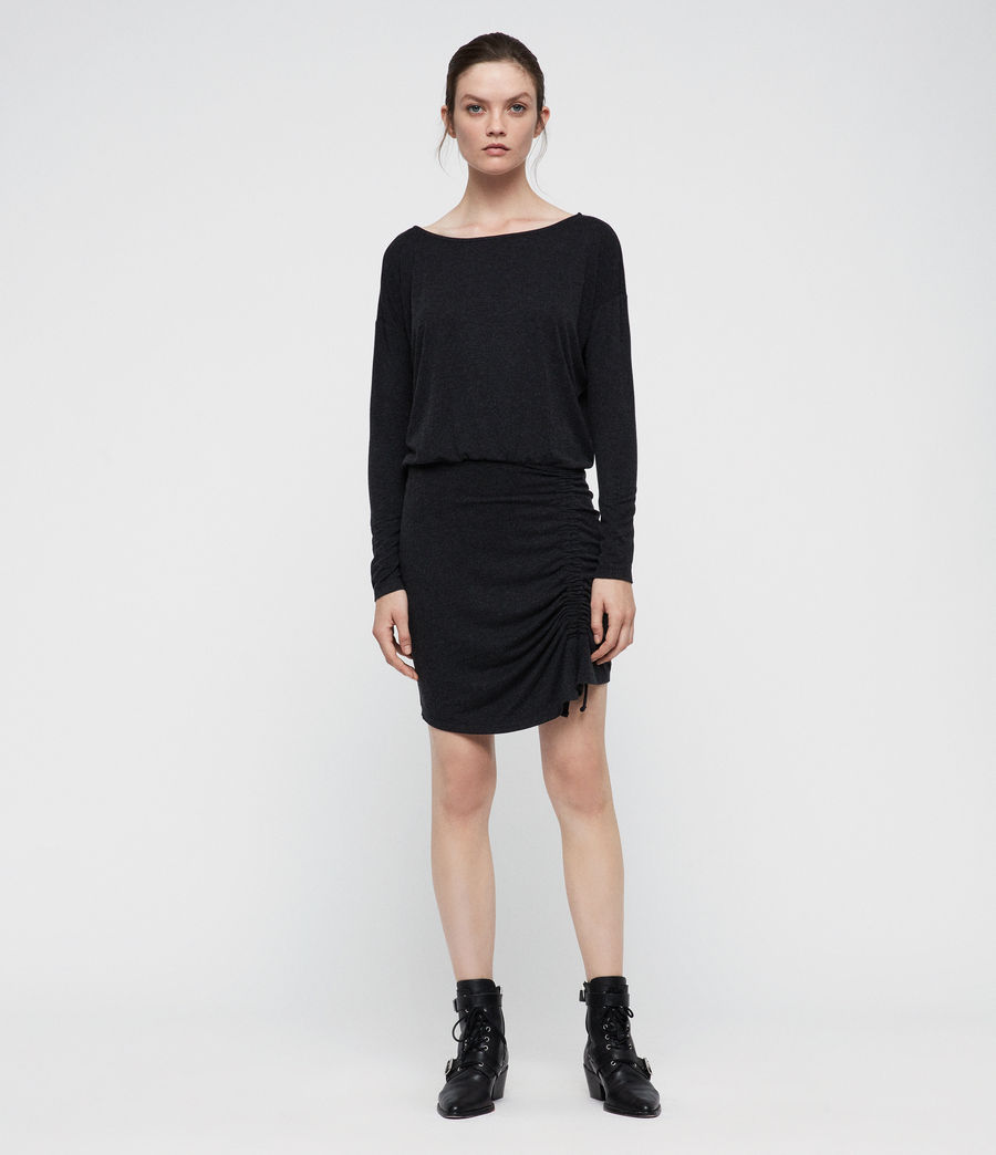 Women's Tavi Ruched Dress (black) - Image 1