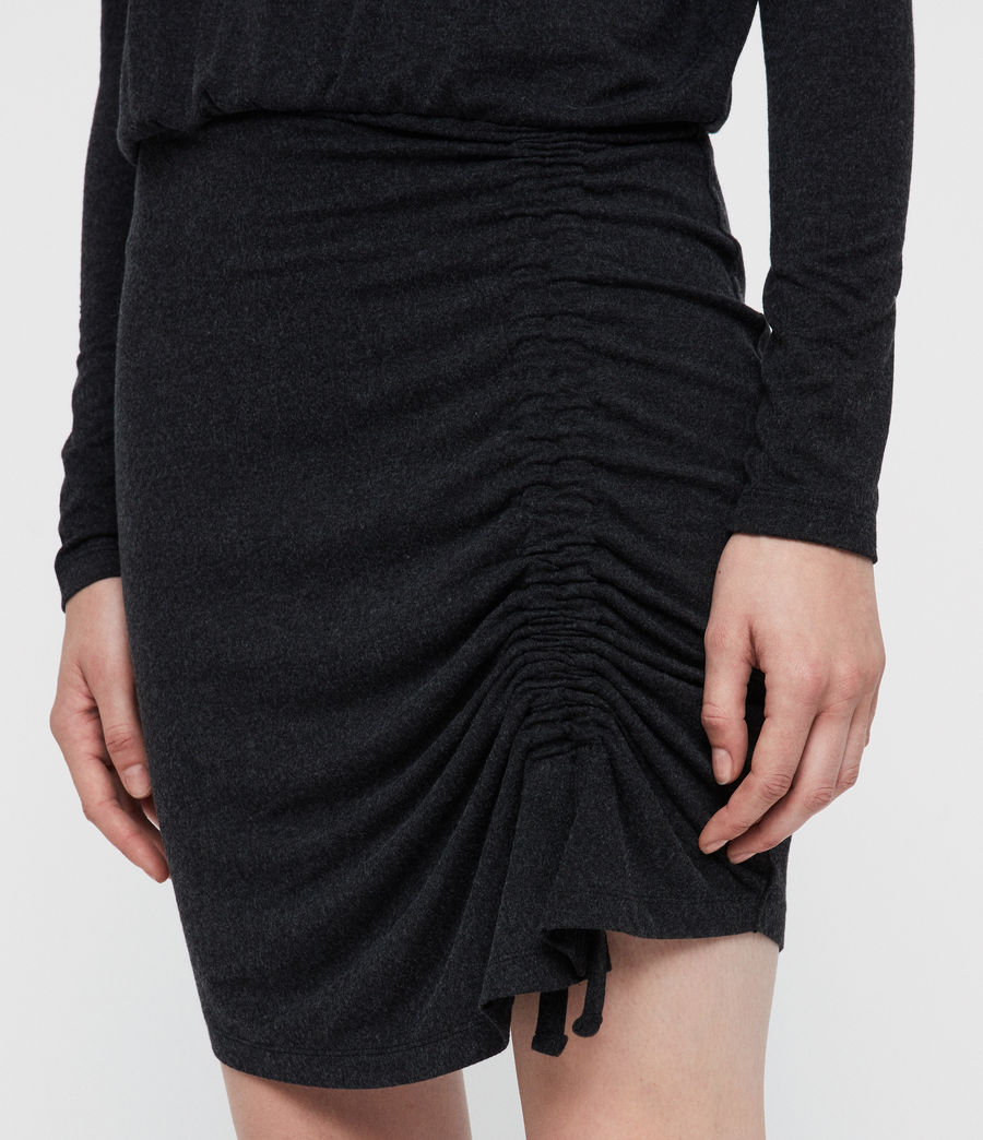 Women's Tavi Ruched Dress (black) - Image 2