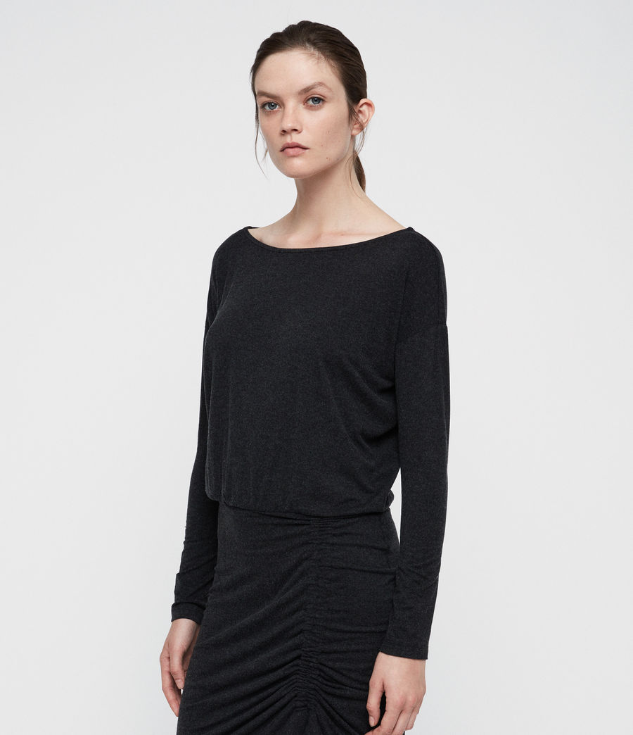 Women's Tavi Ruched Dress (black) - Image 3