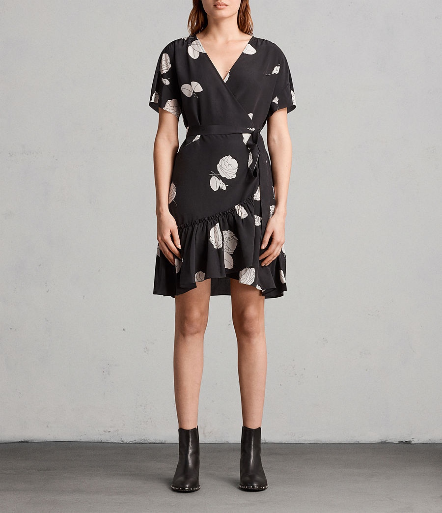 Womens Rene Rodin Silk Dress (black) - Image 1