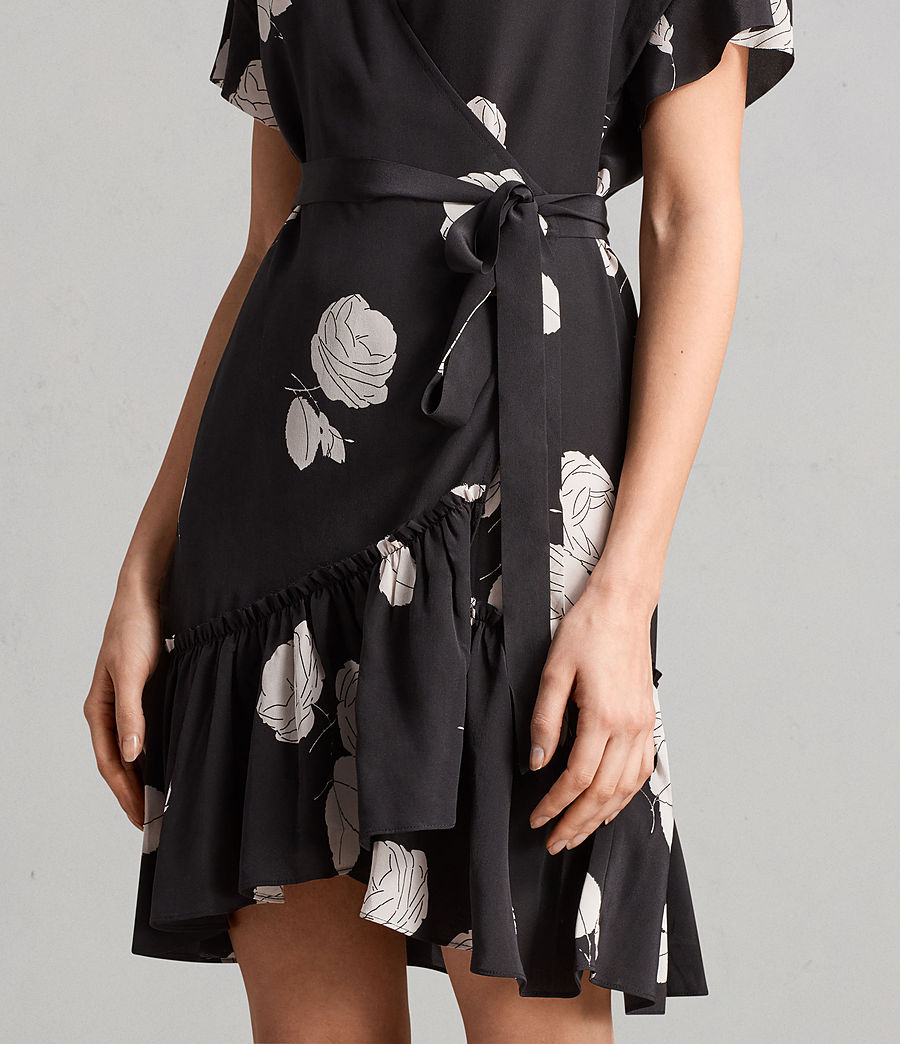 Womens Rene Rodin Silk Dress (black) - Image 2