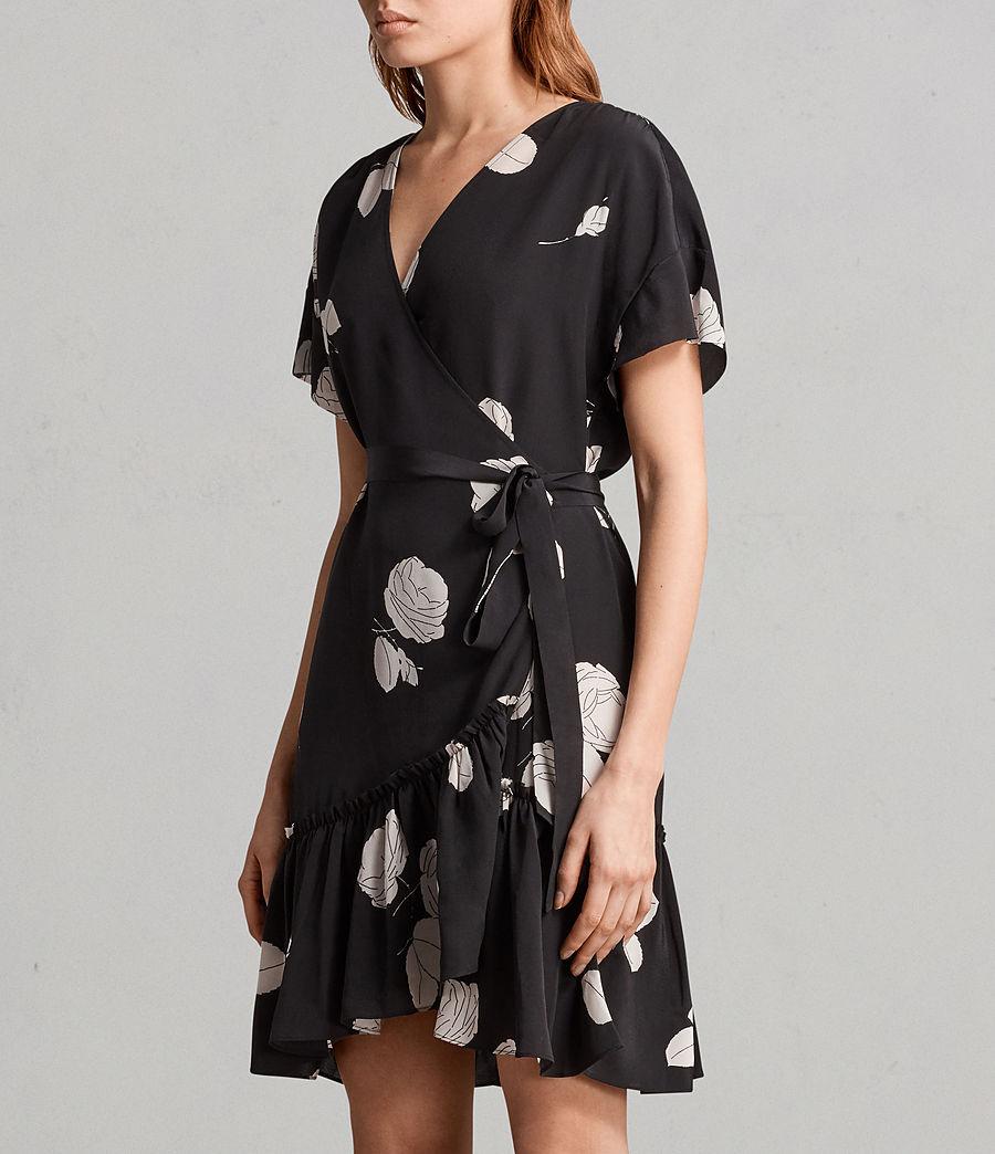 Womens Rene Rodin Silk Dress (black) - Image 4