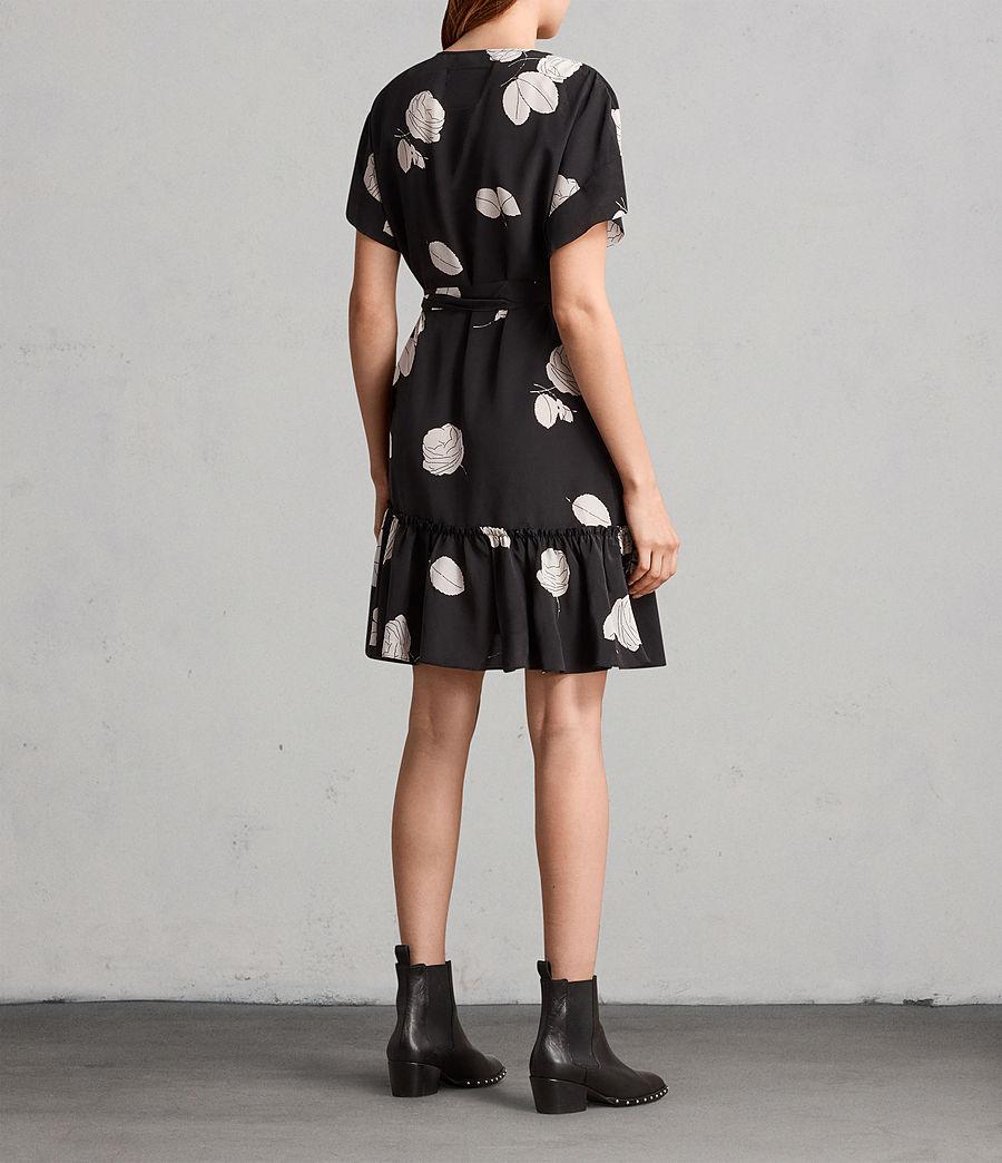 Womens Rene Rodin Silk Dress (black) - Image 5