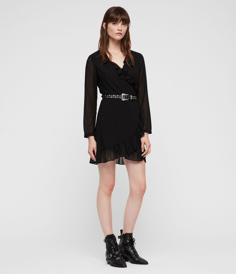 Womens Kiyah Shimmer Dress (black) - Image 1