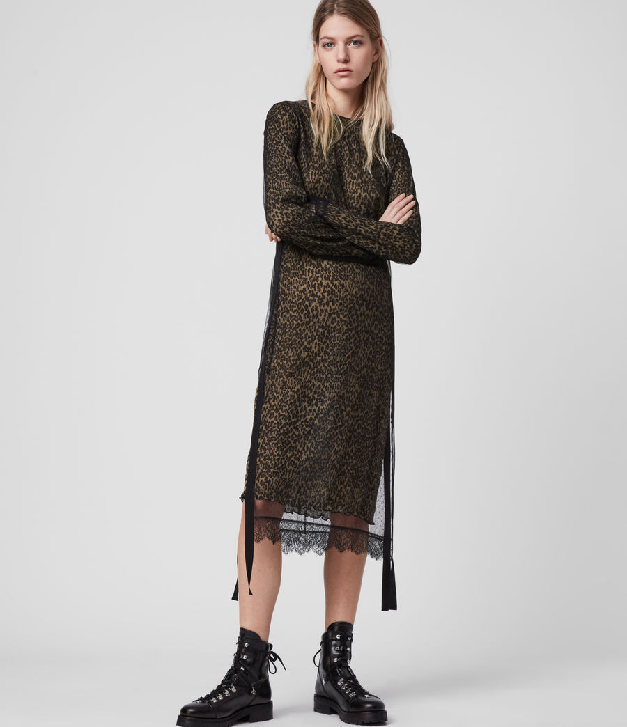 Women's Kiara Linleo Dress (taupe_brown) - Image 1