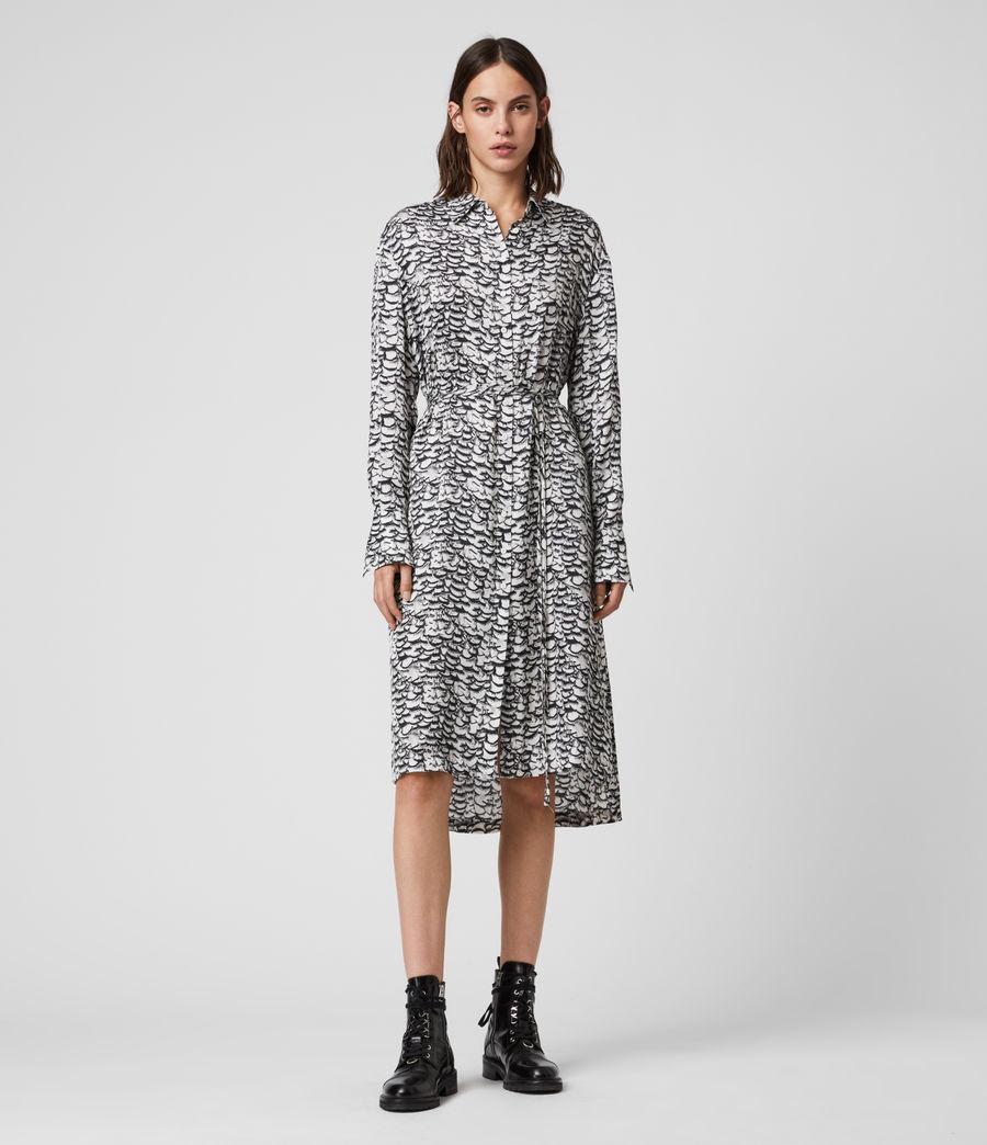 Womens Anya Plume Dress (chalk_white) - Image 1