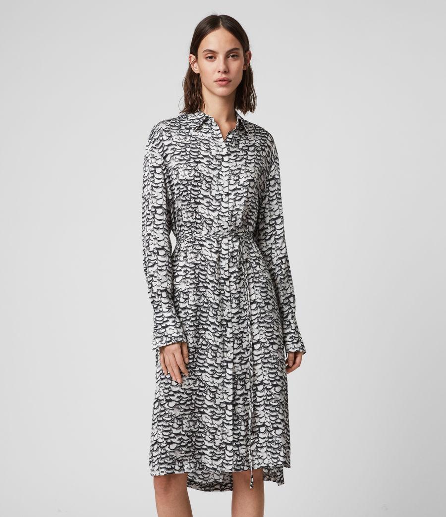 Women's Anya Plume Dress (chalk_white) - Image 3