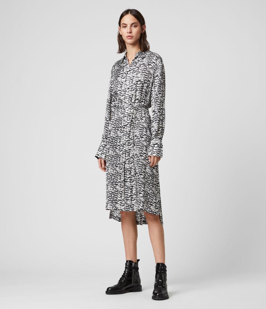 Womens Anya Plume Dress (chalk_white) - Image 5