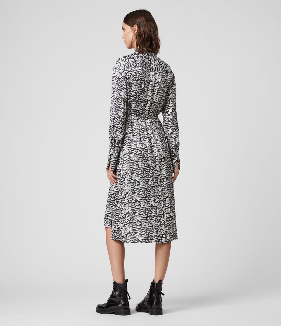 Women's Anya Plume Dress (chalk_white) - Image 6