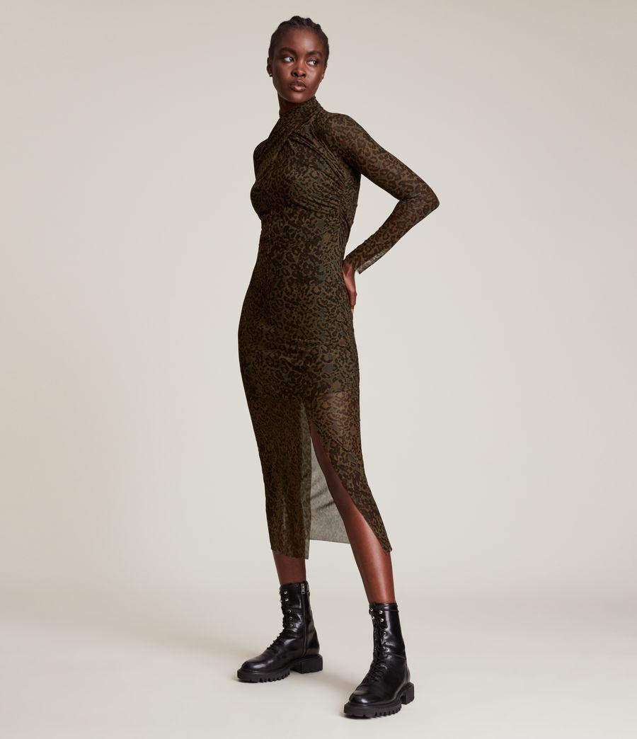 Femmes Tia Halftone Dress (khaki_green) - Image 1