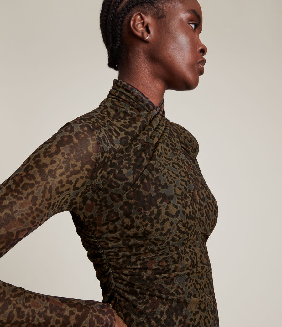 Femmes Tia Halftone Dress (khaki_green) - Image 2