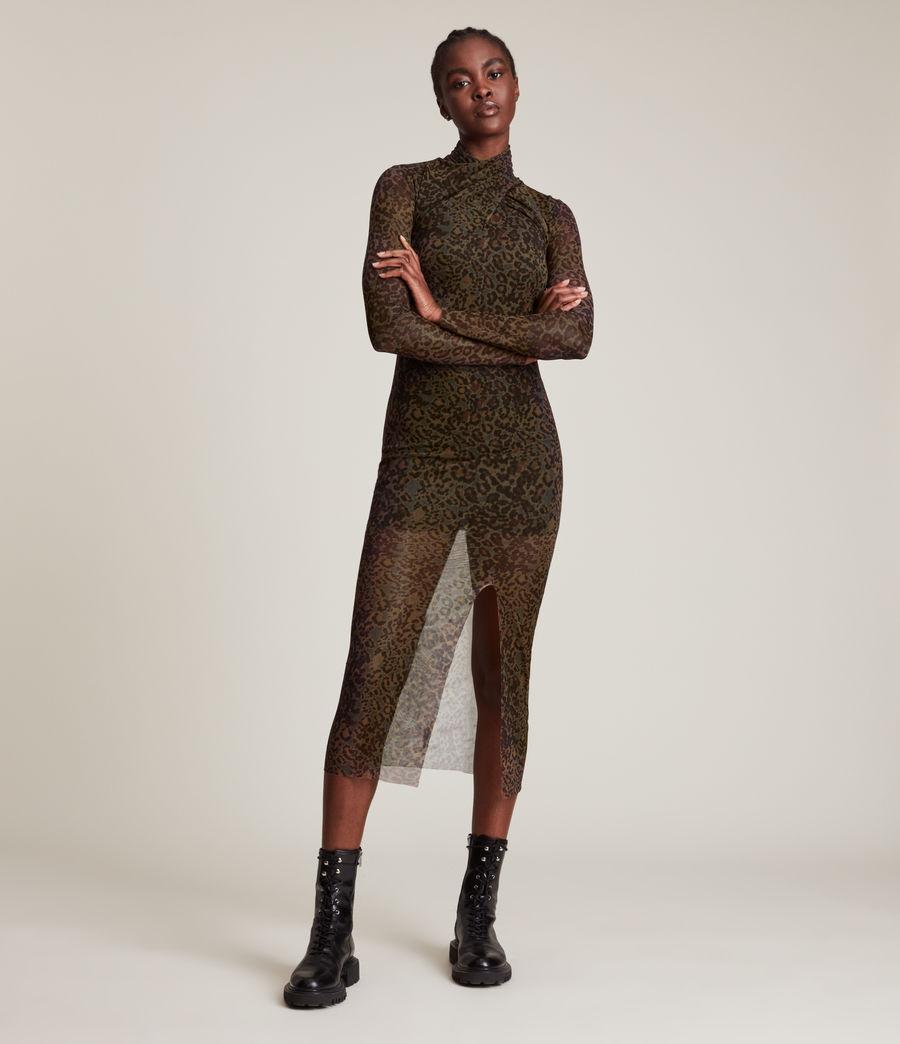 Femmes Tia Halftone Dress (khaki_green) - Image 3