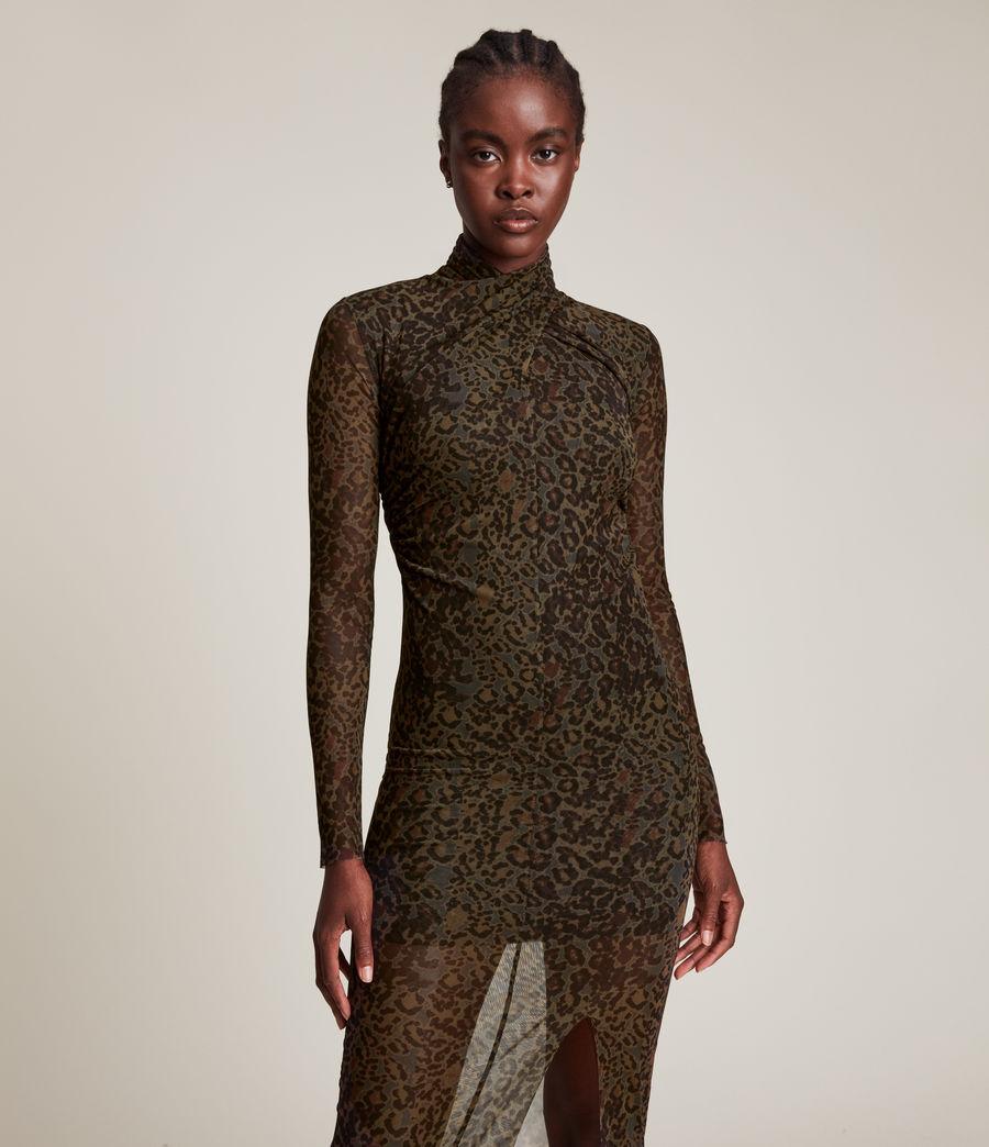 Femmes Tia Halftone Dress (khaki_green) - Image 4