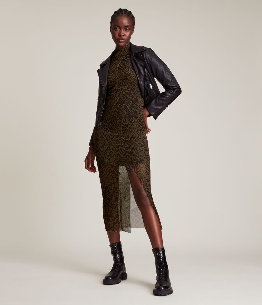 Femmes Tia Halftone Dress (khaki_green) - Image 5