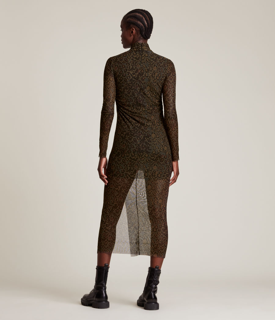 Femmes Tia Halftone Dress (khaki_green) - Image 6