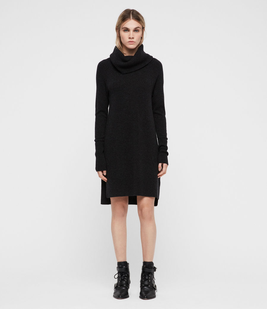 Womens Tiff Dress (charcoal_grey_marl) - Image 1