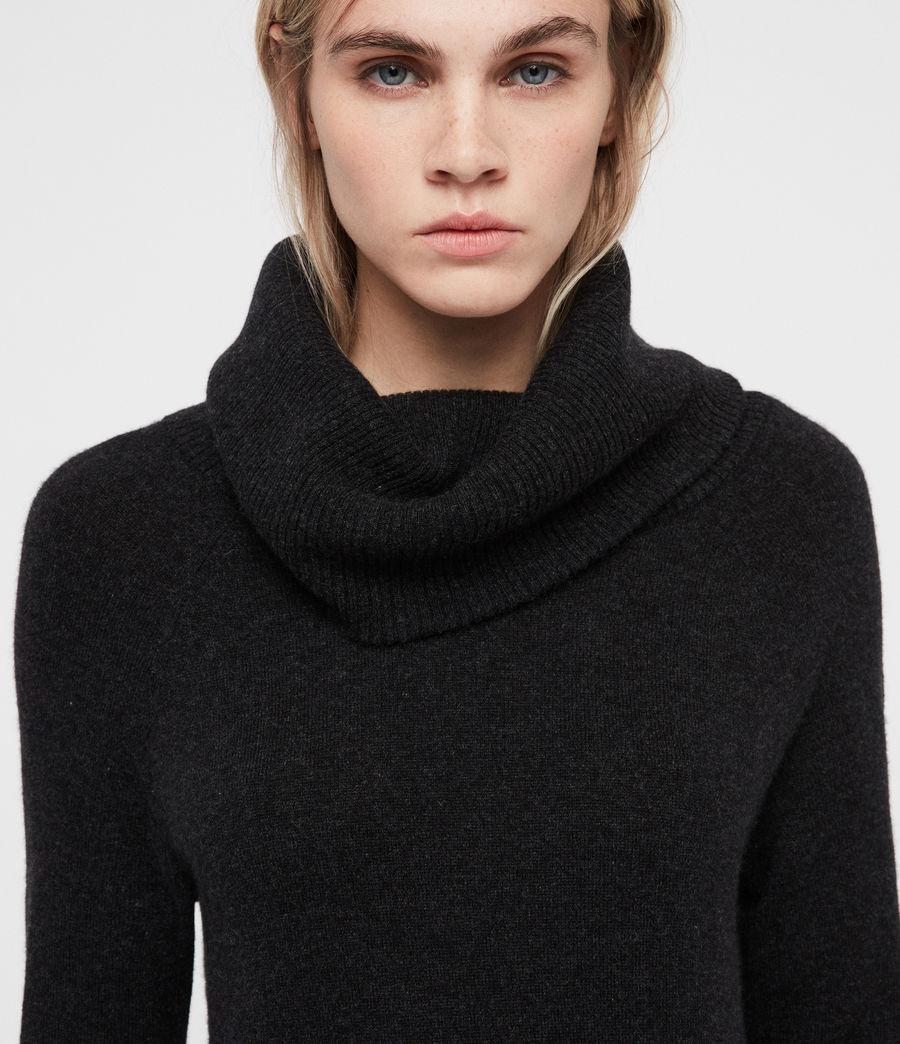 Womens Tiff Dress (charcoal_grey_marl) - Image 2