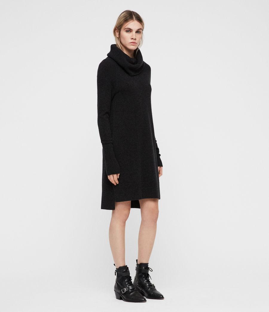 Womens Tiff Dress (charcoal_grey_marl) - Image 3