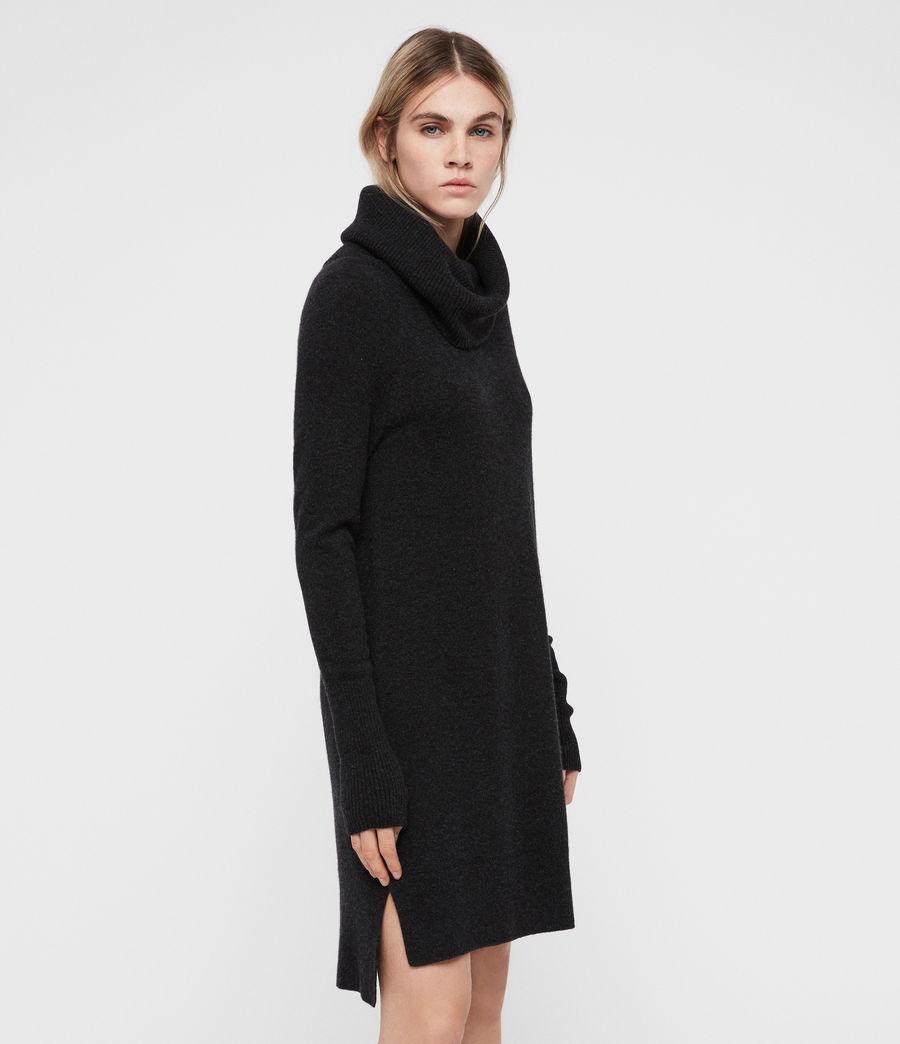 Womens Tiff Dress (charcoal_grey_marl) - Image 4