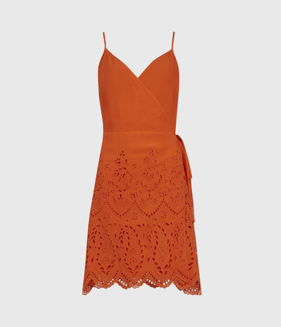 Mujer Zariah Sleeveless Dress (hot_tango_orange) - Image 2