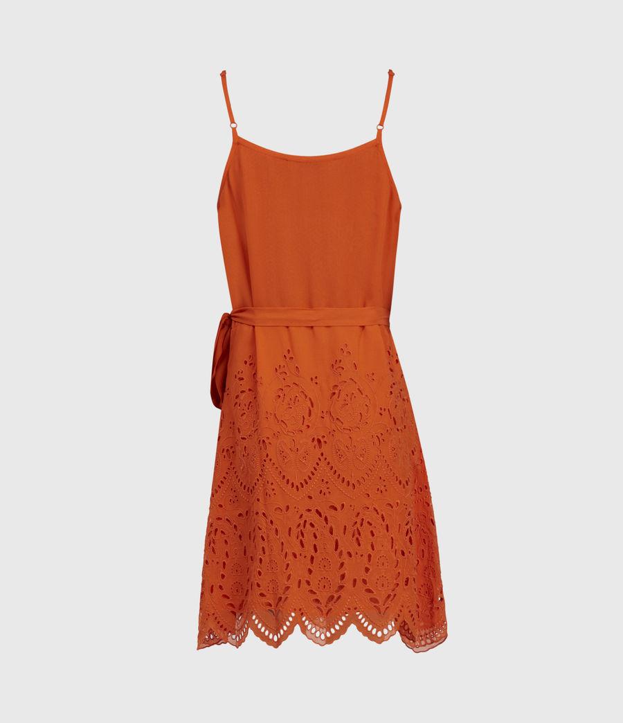 Mujer Zariah Sleeveless Dress (hot_tango_orange) - Image 3