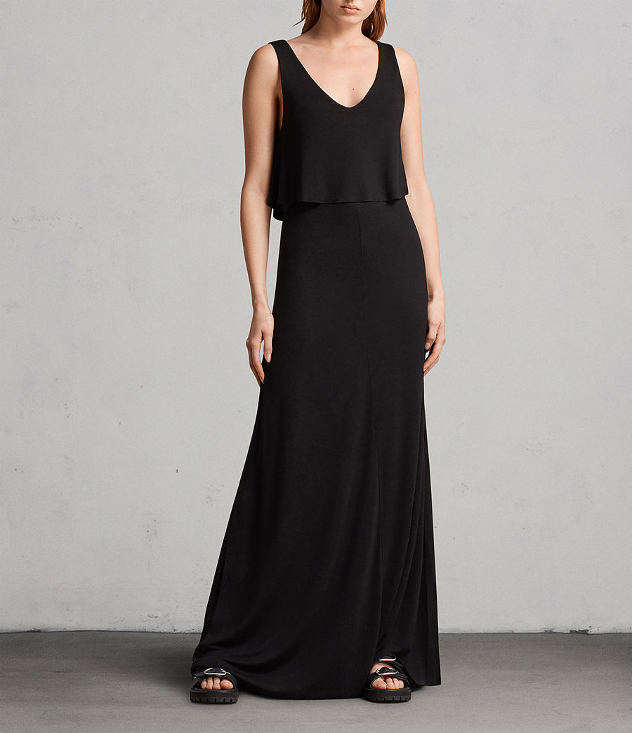 Womens Helena Dress (black) - Image 1