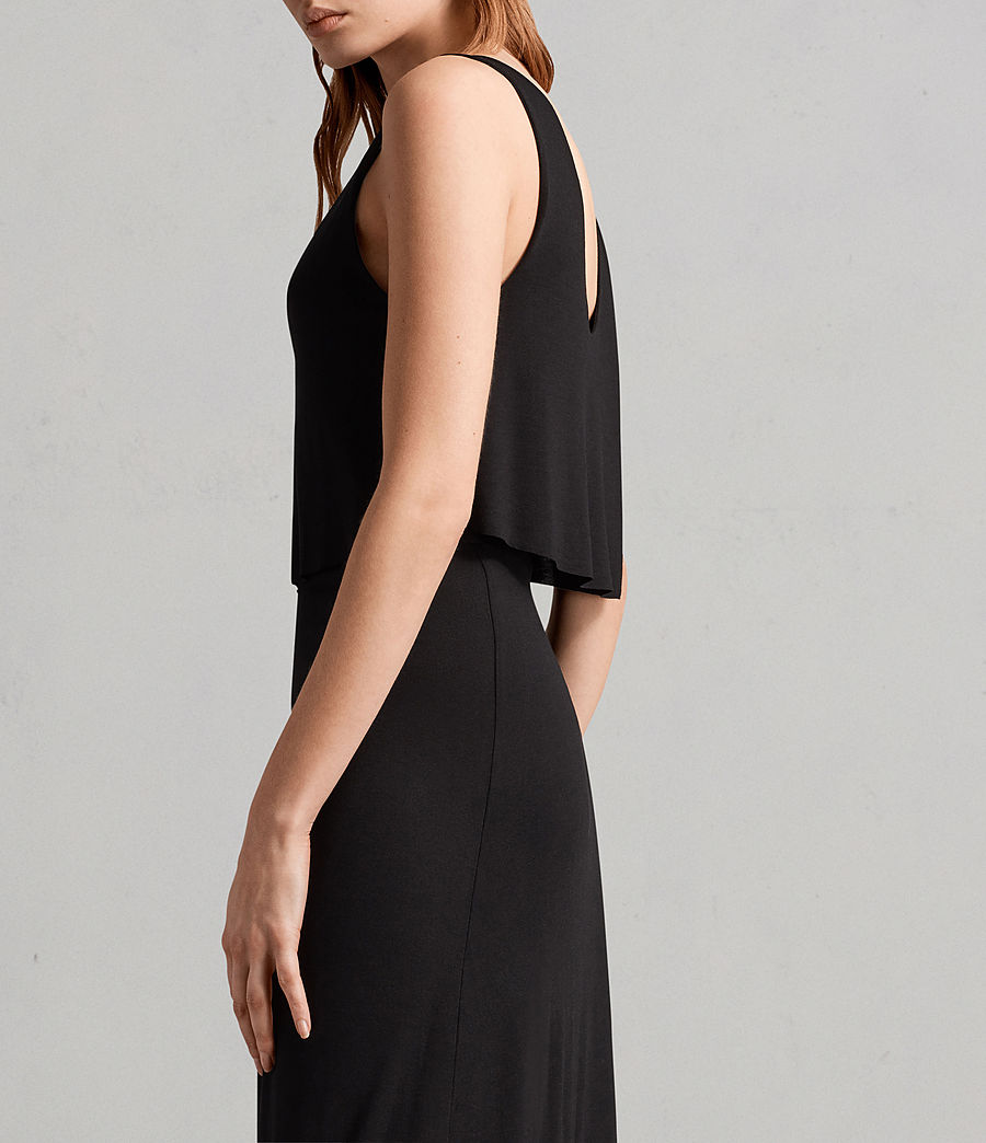 Womens Helena Dress (black) - Image 3
