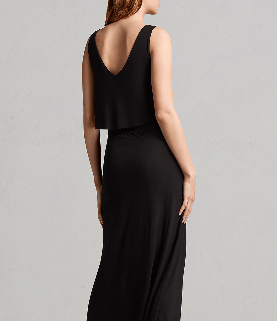 Womens Helena Dress (black) - Image 4