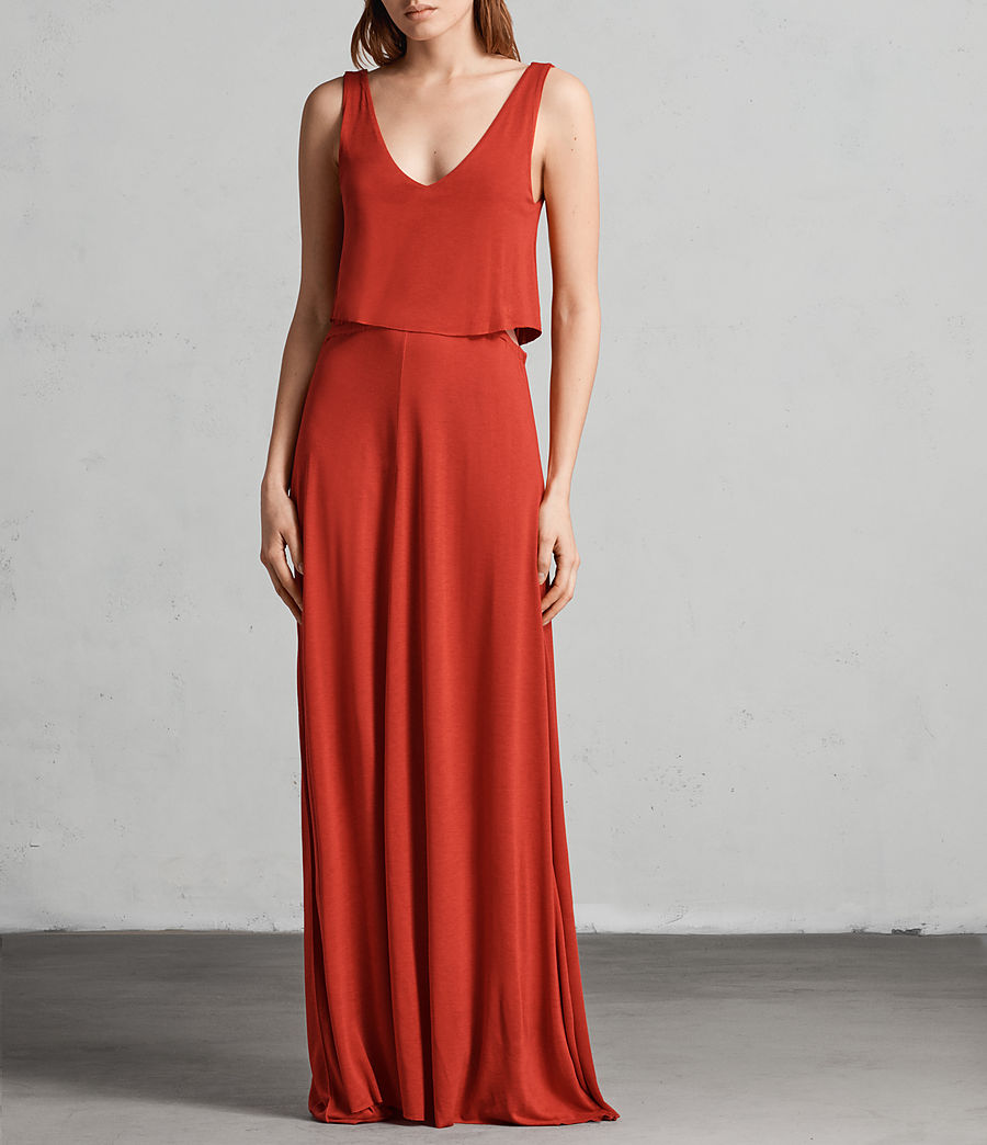 Womens Helena Dress (poppy_red) - Image 1