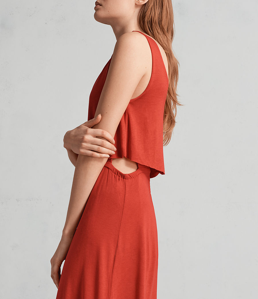Womens Helena Dress (poppy_red) - Image 2