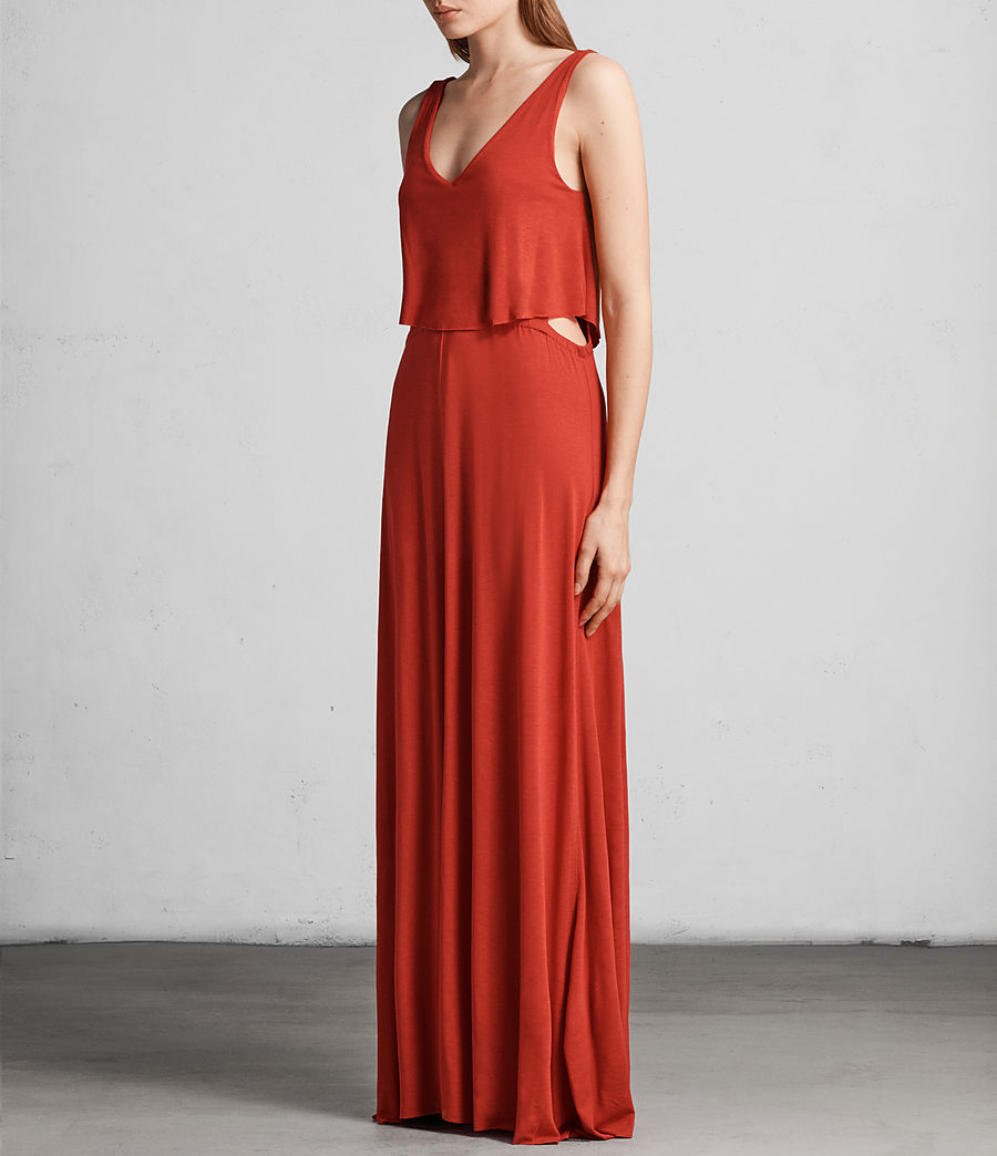 Womens Helena Dress (poppy_red) - Image 3