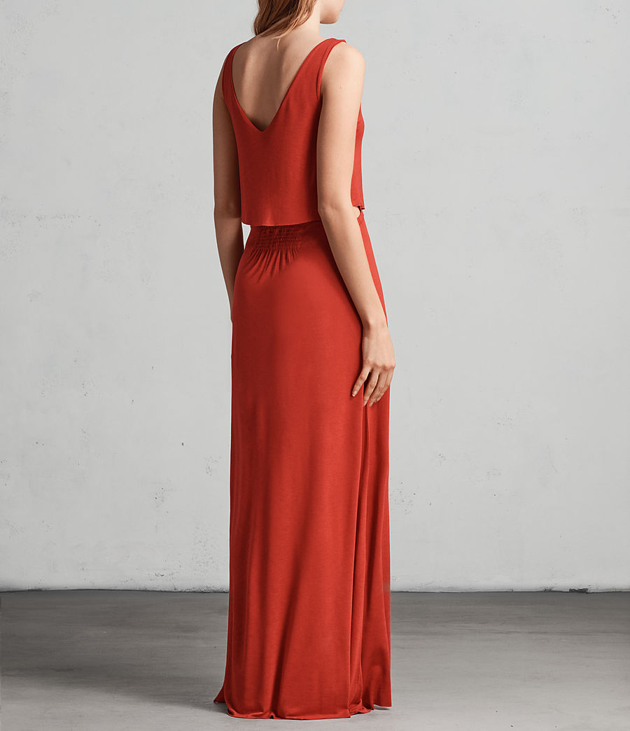 Womens Helena Dress (poppy_red) - Image 4