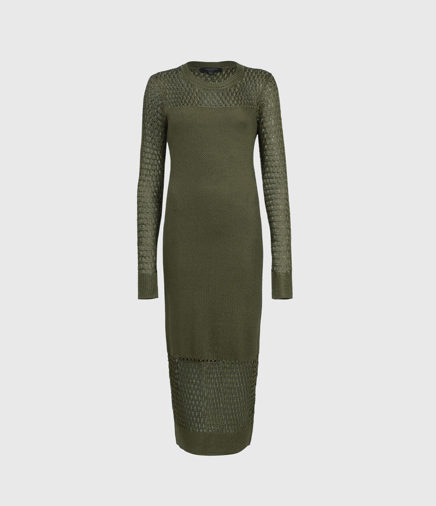 Womens Kendy Dress (khaki_green) - Image 1