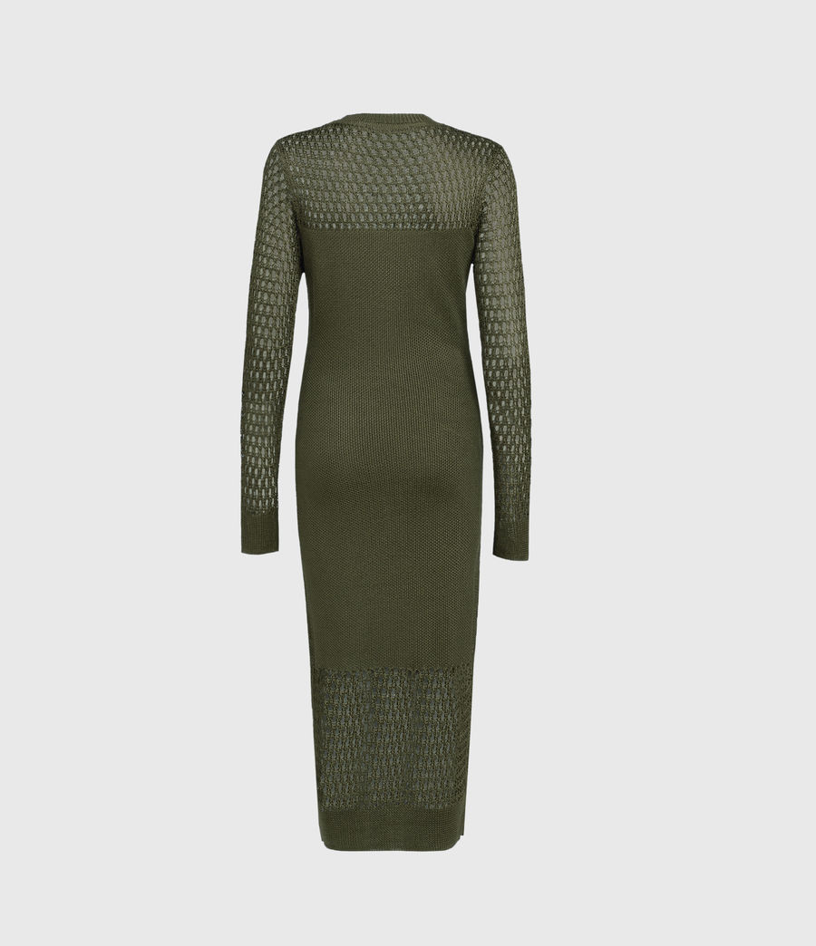 Womens Kendy Dress (khaki_green) - Image 2