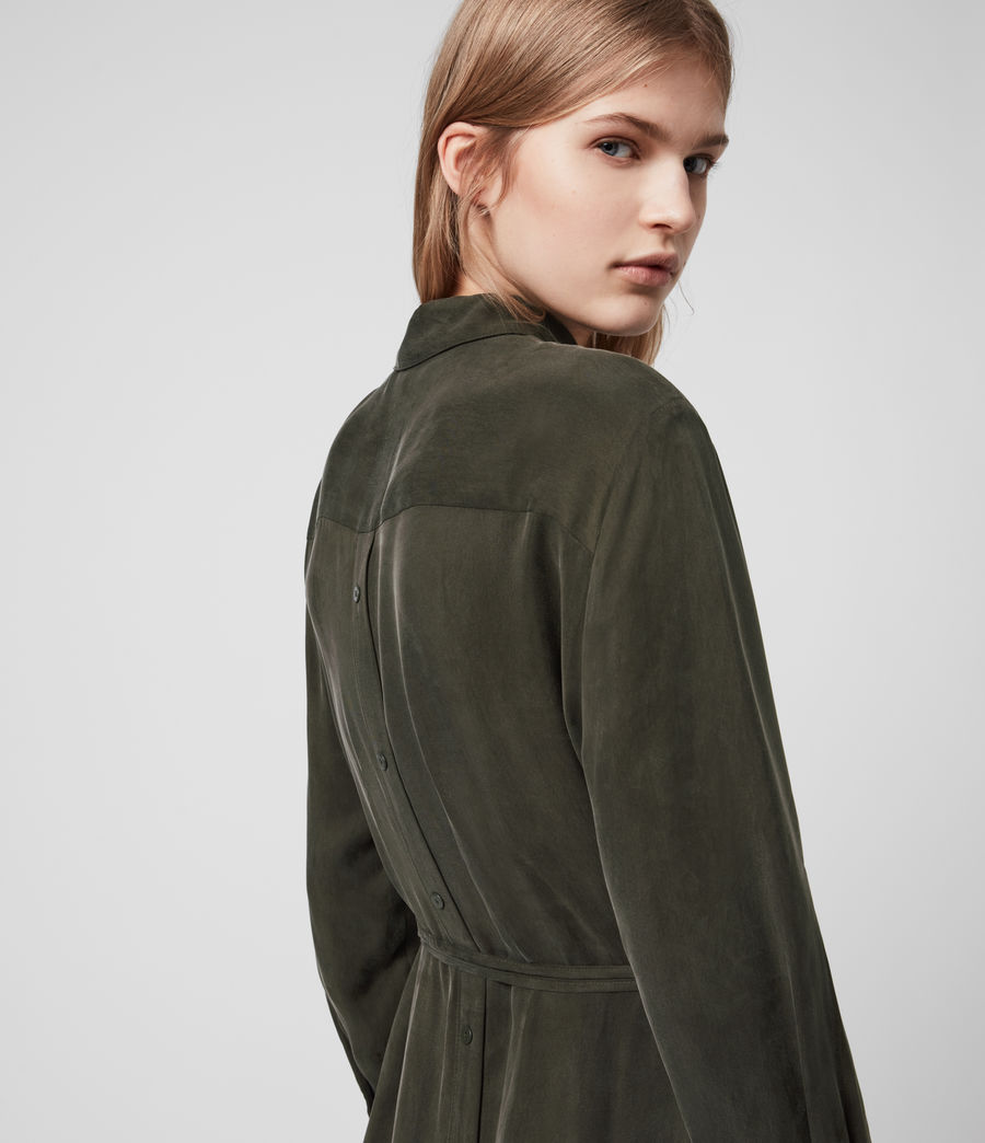 Womens Anya Shirt Dress (military_green) - Image 5