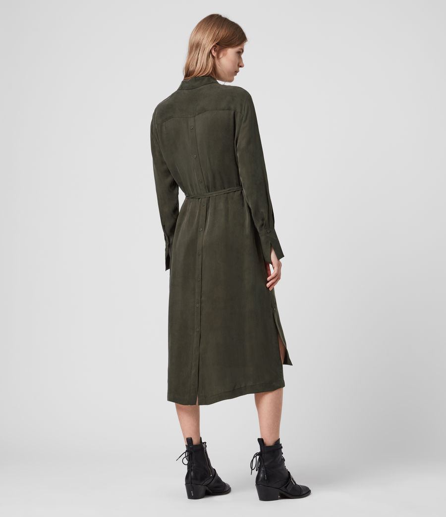 Womens Anya Shirt Dress (military_green) - Image 6