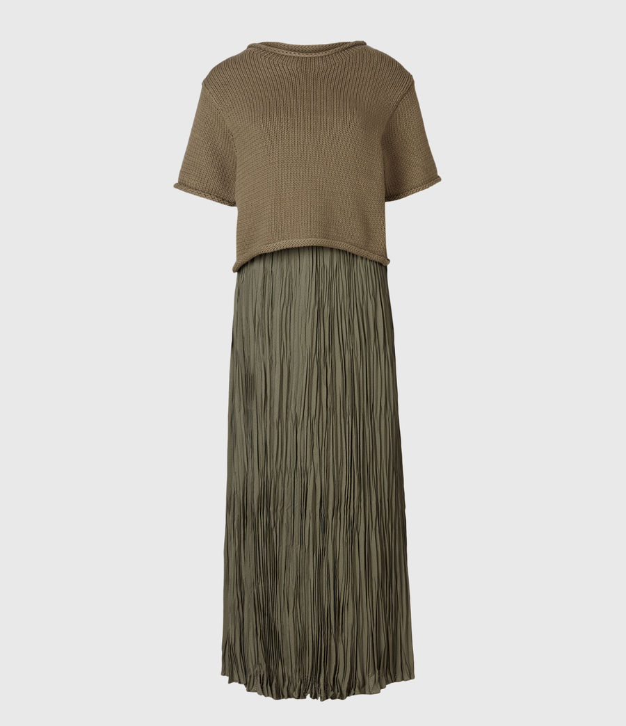 Mujer Laze 2-In-1 Dress (utility_green) - Image 1