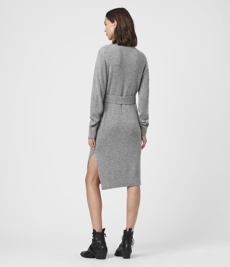 Womens Roza Cashmere Blend Jumper Dress (pale_grey) - Image 5