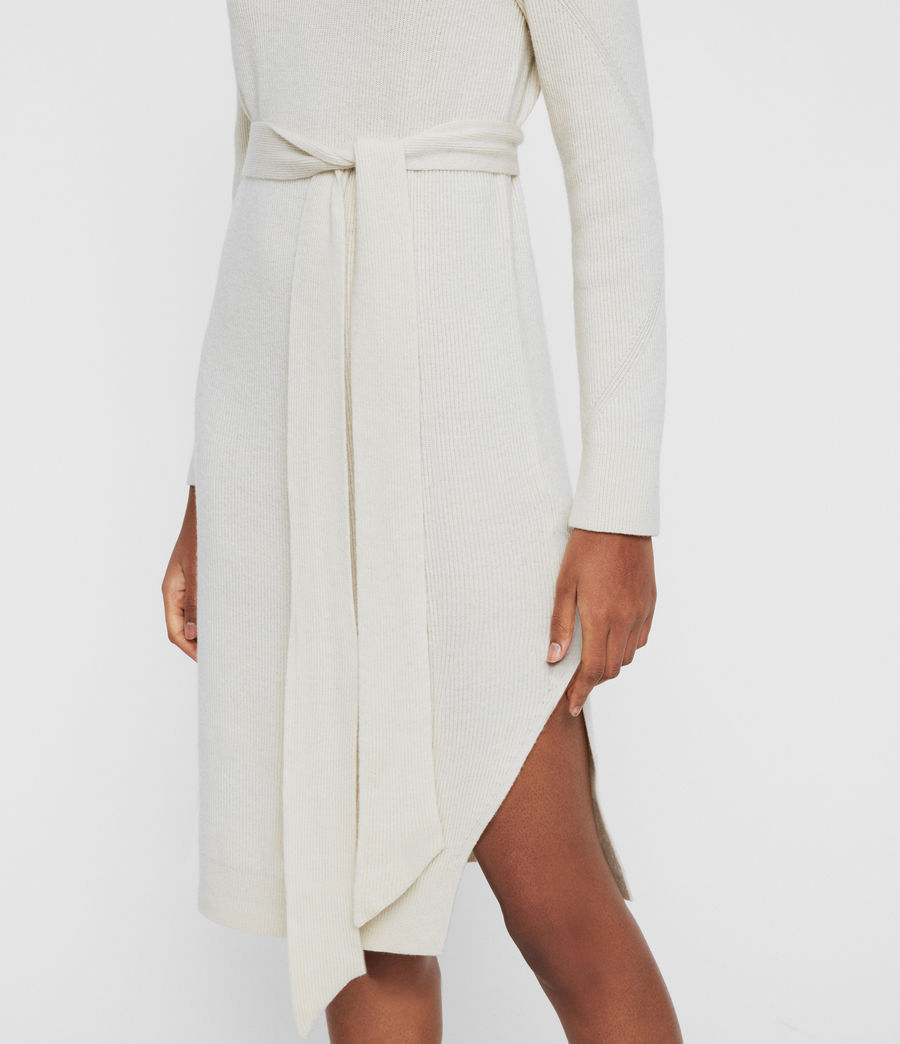 Womens Roza Cashmere Blend Jumper Dress (chalk_white) - Image 4
