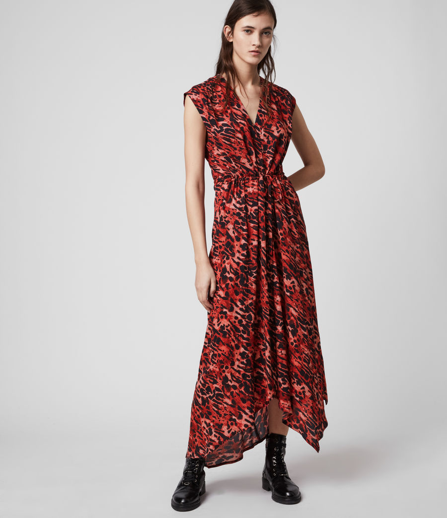 Womens Tate Ambient Dress (red) - Image 2