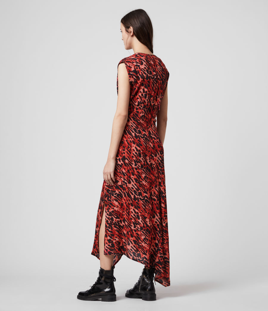 Womens Tate Ambient Dress (red) - Image 4