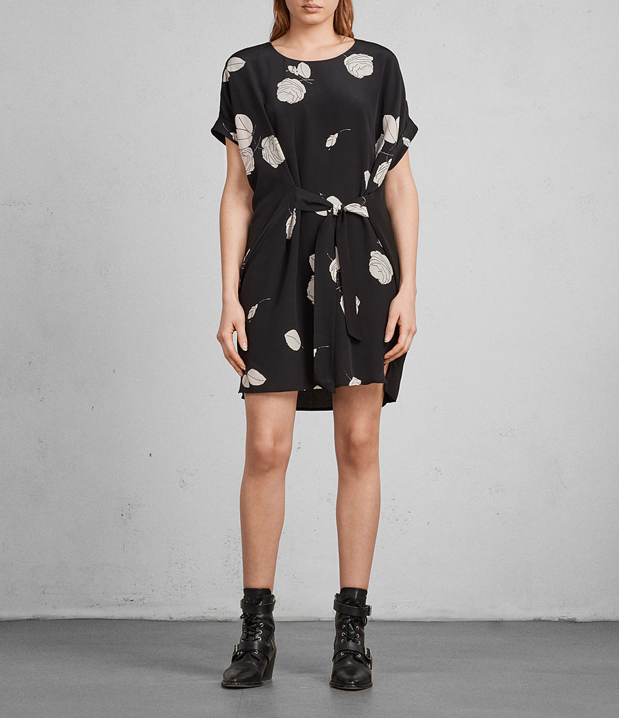 Womens Sonny Rodin Silk Dress (black) - Image 1