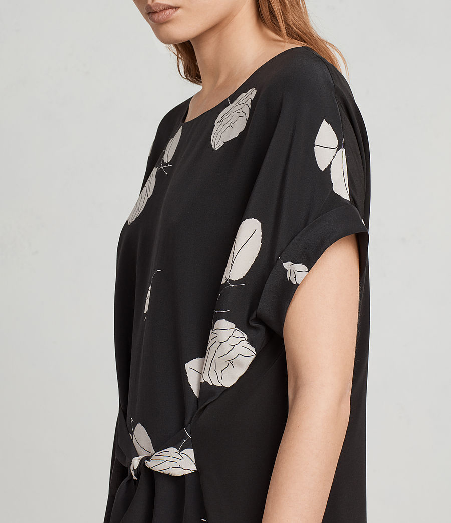 Womens Sonny Rodin Silk Dress (black) - Image 2