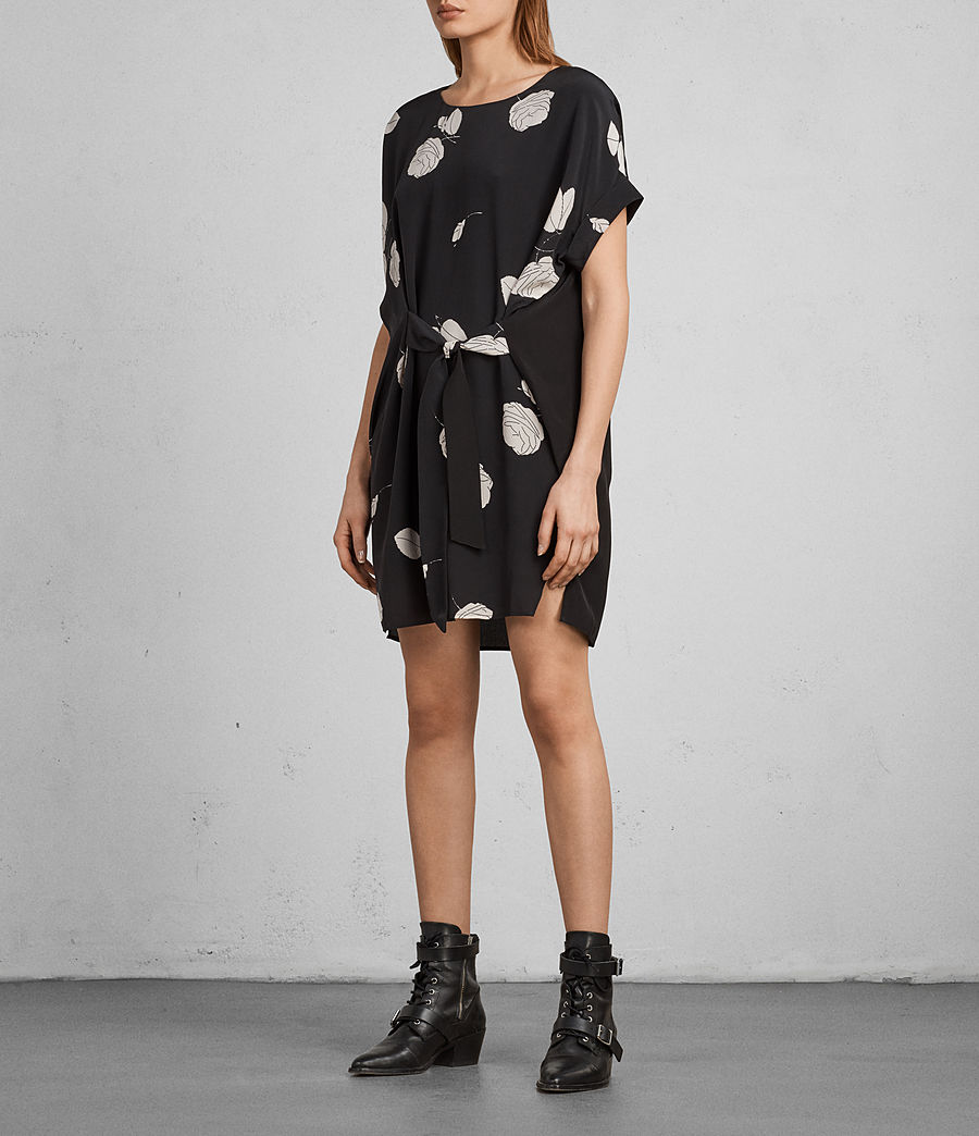 Womens Sonny Rodin Silk Dress (black) - Image 3