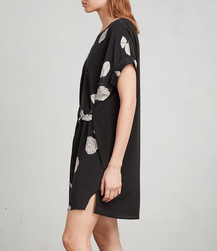 Womens Sonny Rodin Silk Dress (black) - Image 4